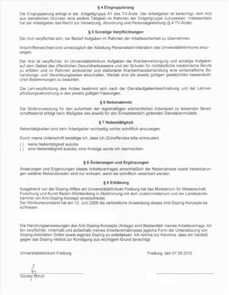 Diemedizinerberaterde Arbeitsvertrag